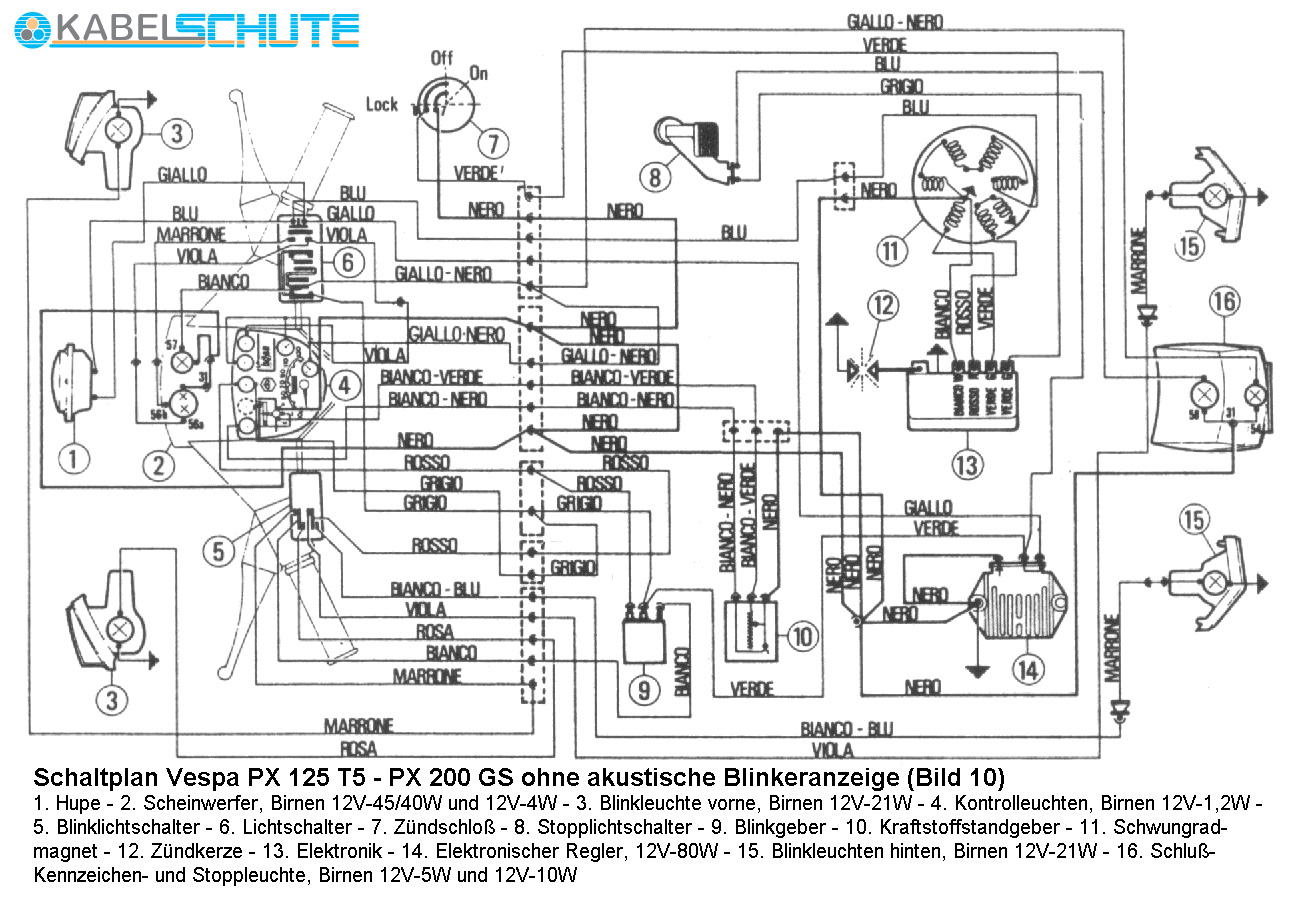 electric wiring diagrams of vespa