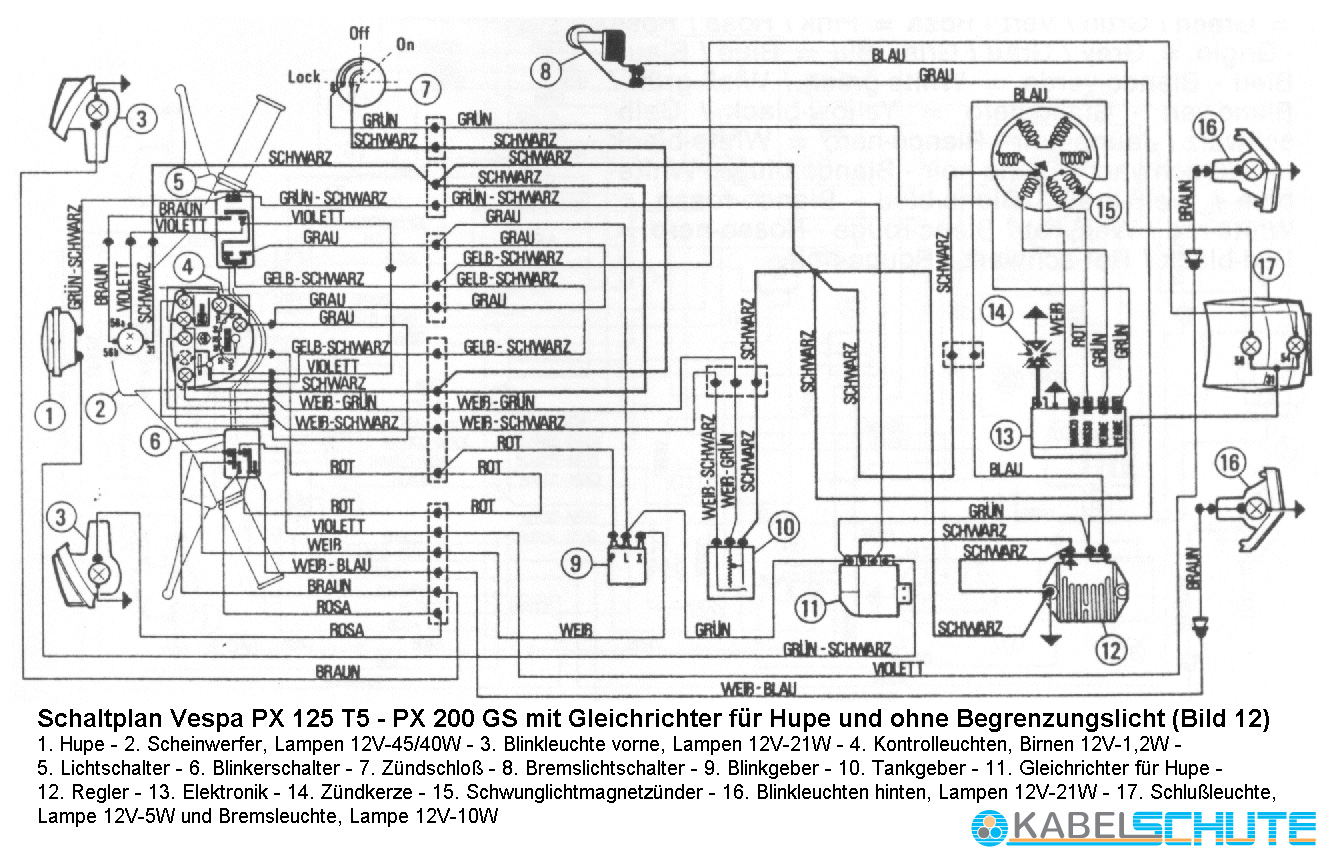 no battery wiring diagram vespa p200