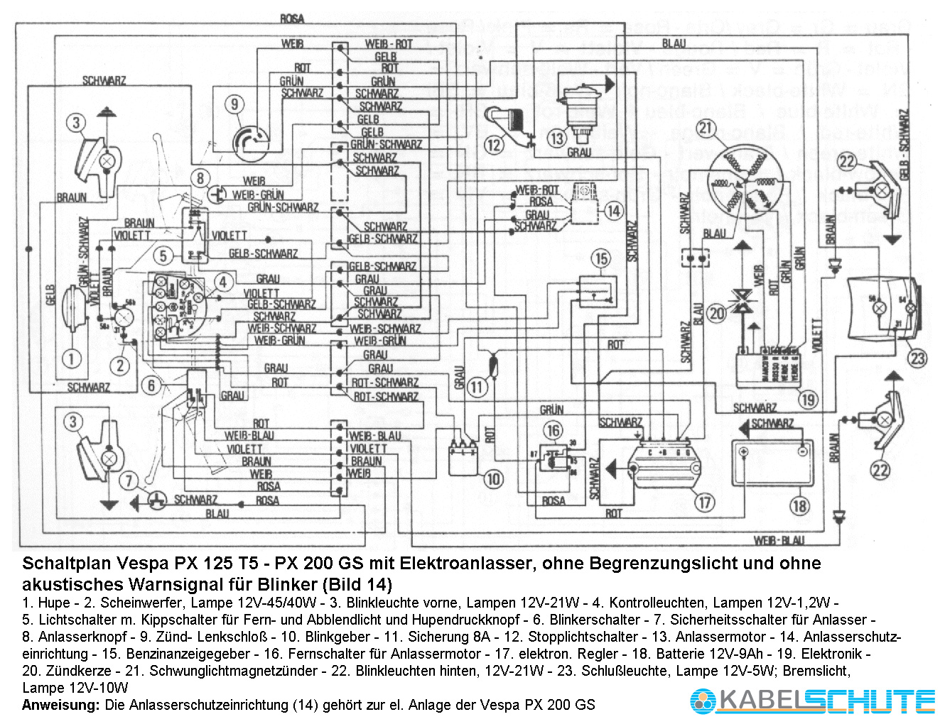vespa p125x wiring diagram vespa sprint wiring diagram