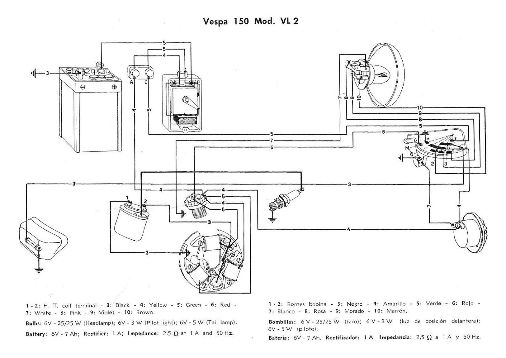 Schaltplan Vespa V50