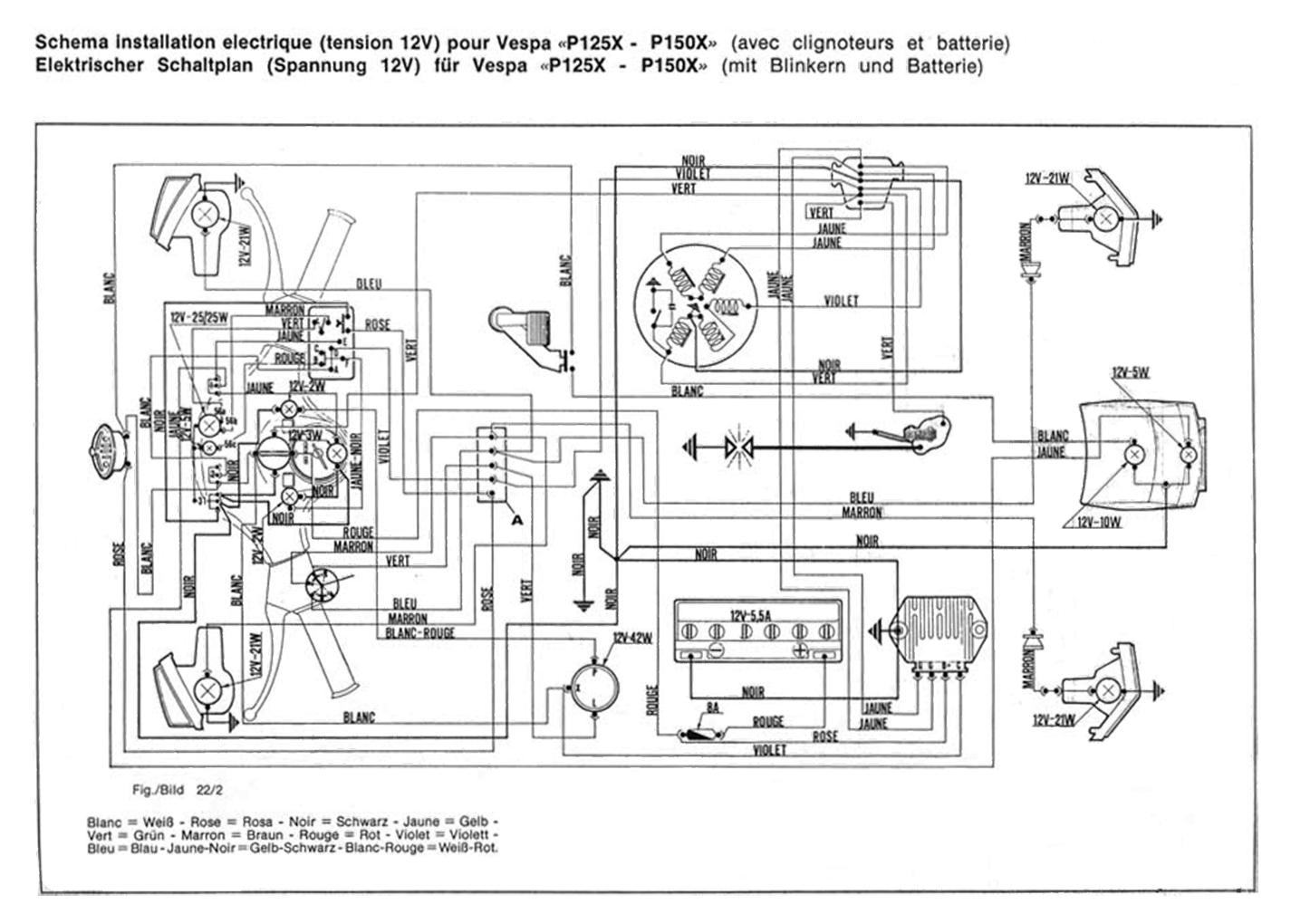 Vespa Wiring Diagram Question About Vbb Px 150 27 Images